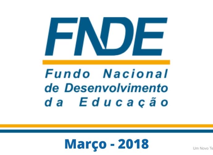 Balanço relativo a receita do Fundeb no mês de março 2018