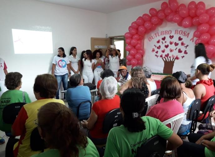 Cânceres são temas de encontro no PSF Central - Outubro Rosa