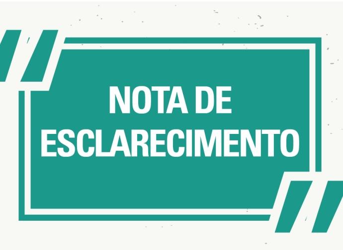 NOTA DE ESCLARECIMENTO - PROCESSO SELETIVO SIMPLIFICADO EDITAL Nº 02/2019