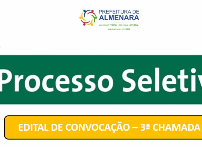NOVA CONVOCAÇÃO PARA PREENCHIMENTO DE VAGAS DE AGENTES COMUNITÁRIOS DE SAÚDE CONFORME EDITAL Nº 02/2019