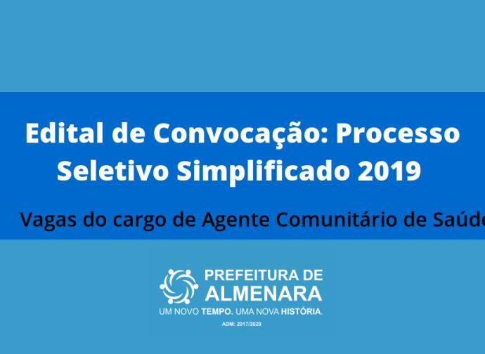 Edital de Convocação: Processo Seletivo Simplificado 2019