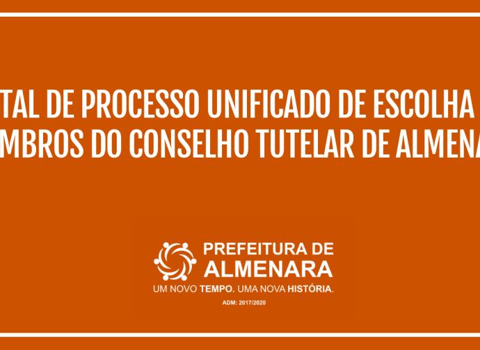 Edital de Processo Unificado de Escolha dos Membros do Conselho Tutelar de Almenara
