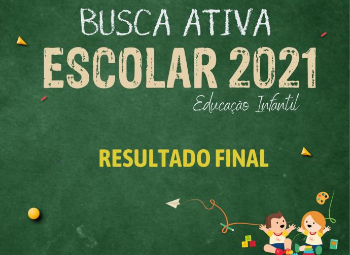 BUSCA ATIVA EDUCAÇÃO - RESULTADO FINAL