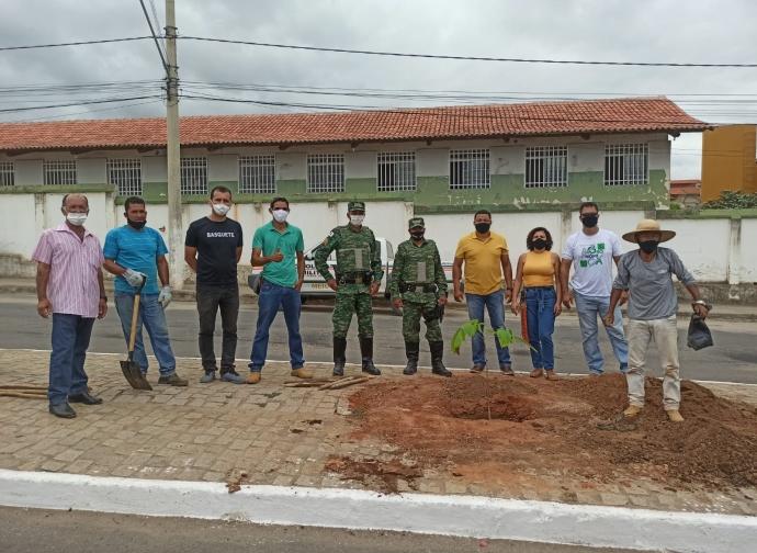 Prefeitura de Almenara realiza projeto de arborização da Avenida Olindo de Miranda